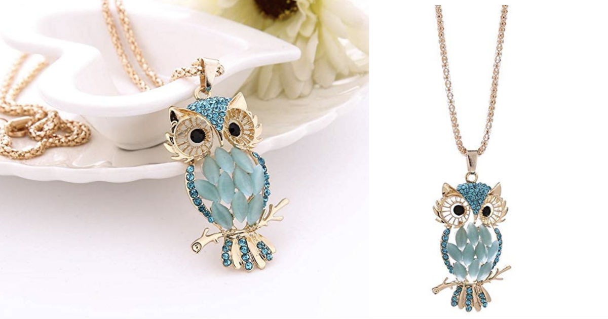 Owl Pendant Necklace ONLY $3.9...