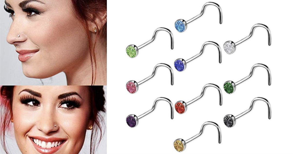 Piercing Stud Nose Hoop ONLY $...