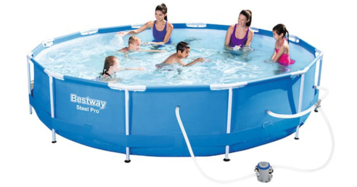 Bestway Steel Pro Frame Pool with Pump ONLY $74.99 Shipped