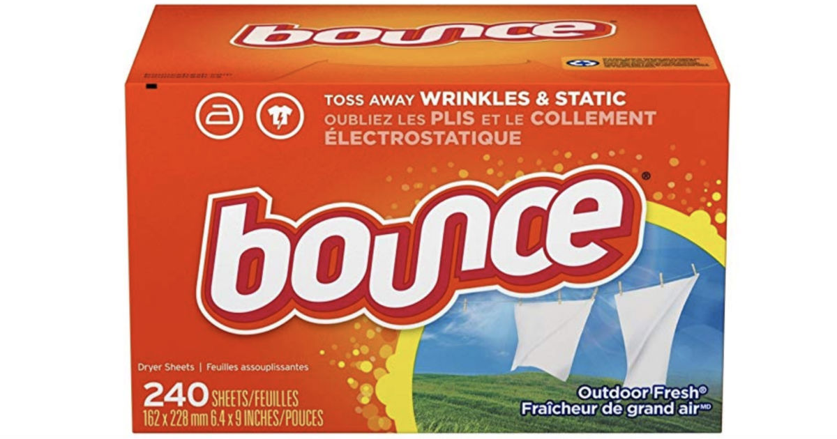 Bounce Dryer Sheets 240-Count Only $5.54 Shipped