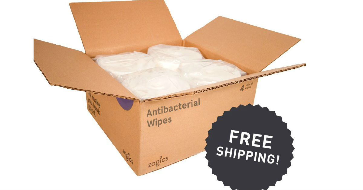 FREE Zogics Gym Wipes Sample P...