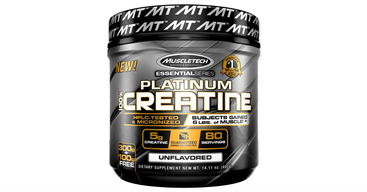 MuscleTech Platnum Creatine Powder ONLY $3.97 on Amazon