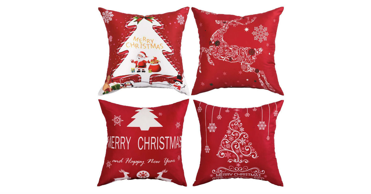 Christmas Pillow Covers ONLY $1.59 Each on Amazon