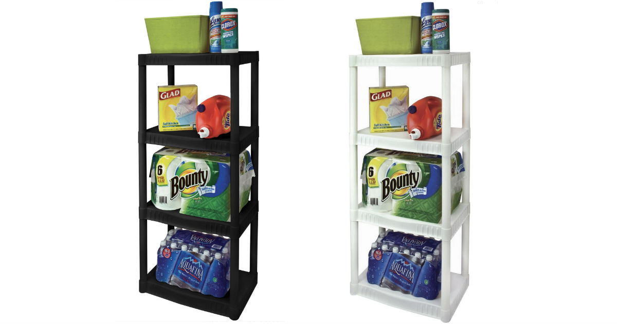 4-Tier Heavy-Duty Plastic Shelves ONLY $14.97 (Reg $25)