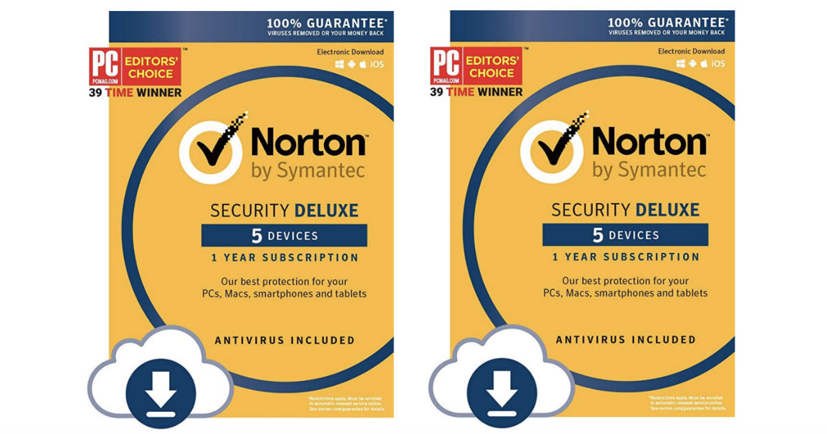 Norton Security Deluxe Download ONLY $14.99 (Reg $80)
