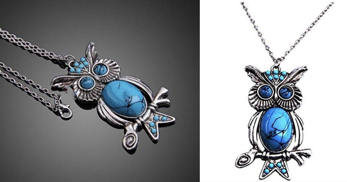 Silver Plated Owl Pendant Necklace ONLY $3 Shipped