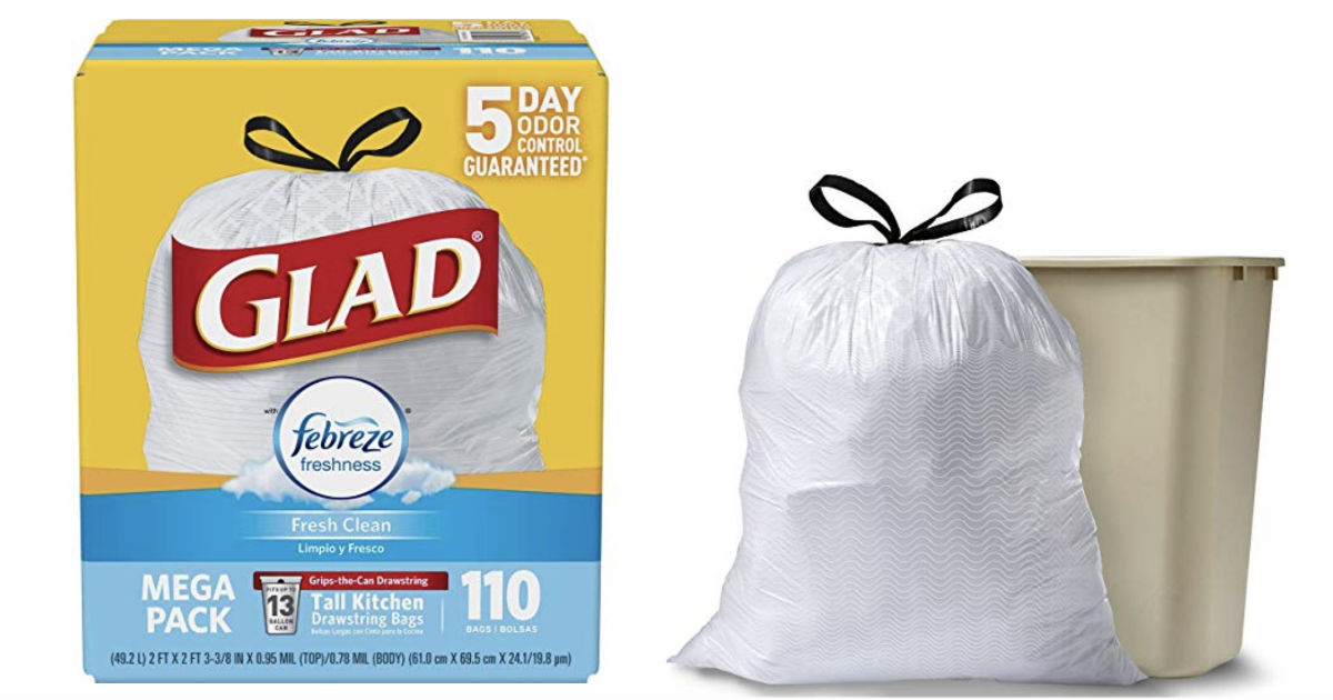 Glad OdorShield Tall Kitchen Trash Bags 110-ct ONLY $11.62