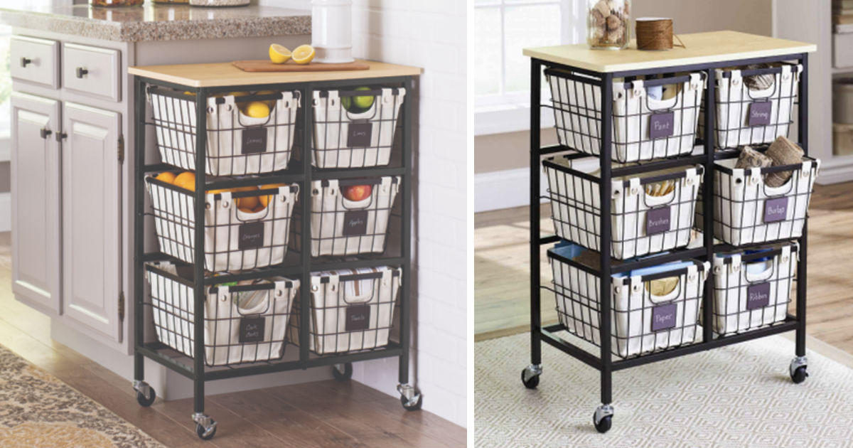 Better Homes & Gardens 6 Drawer Wire Cart ONLY $59.99 (Reg $70)