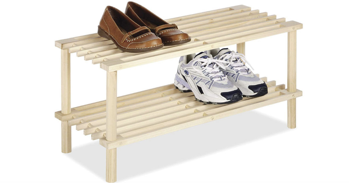 Whitmor 2 Tier Wood Household Shelves ONLY $6.47 (Reg $13)