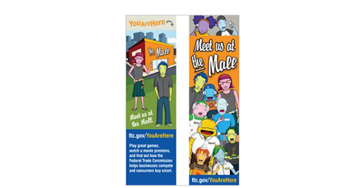 FREE You Are Here Bookmarks
