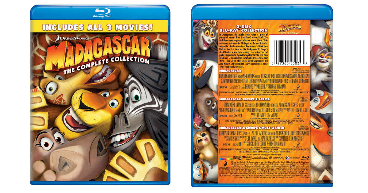 Madagascar Complete Collection on Blu-ray ONLY $11.79 (Reg. $25)