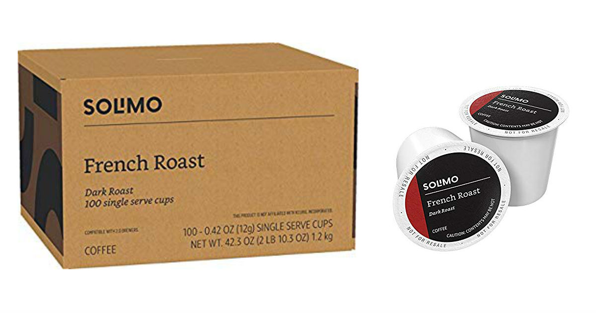 Amazon's Solimo Coffee 100-Count Pods ONLY $25.34 Shipped