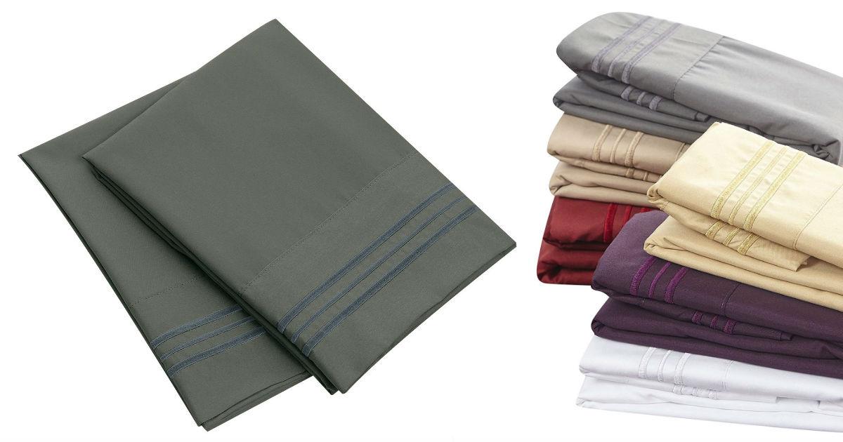 Microfiber Pillowcase Set ONLY $7.00 Shipped (Reg. $15)