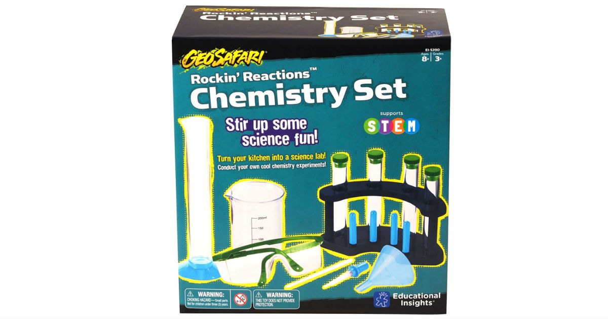 GeoSafari Rockin' Reactions Chemistry Set ONLY $5.27 (Reg. $25)