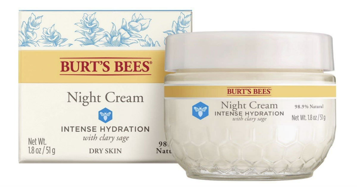 Burt's Bees Intense Hydration Moisturizing Night Cream ONLY $8.94