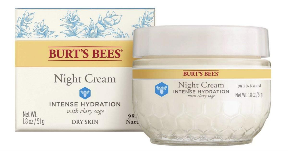 Burt's Bees Intense Hydration Moisturizing Night Cream ONLY $8.94