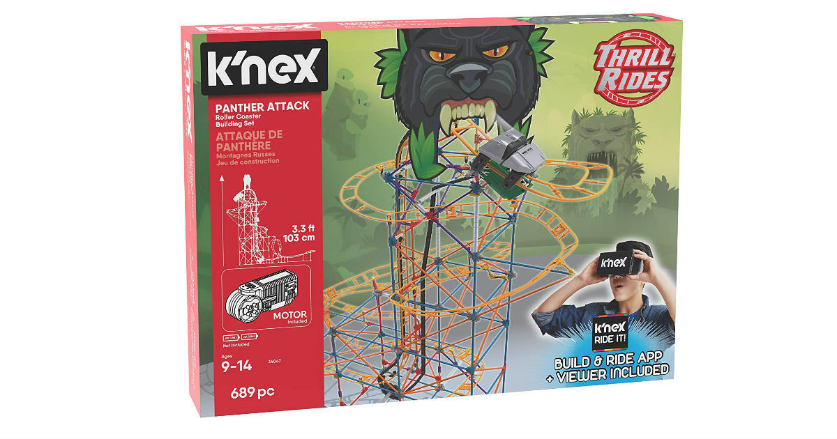 K'NEX Panther Attack Roller Coaster ONLY $25.06 (Reg. $80)