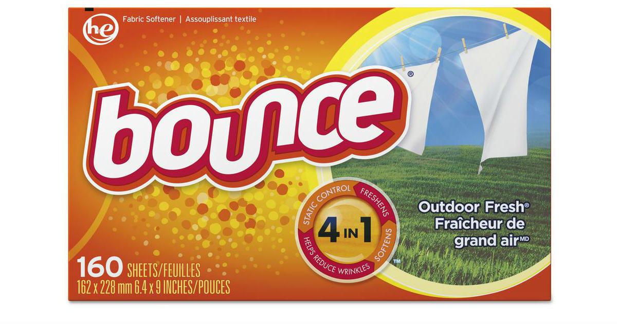 Free Bounce Fabric Softener Dryer Sheets at Walmart