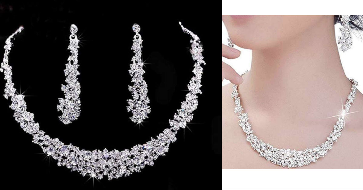 Bridal Crystal Chain Necklace.