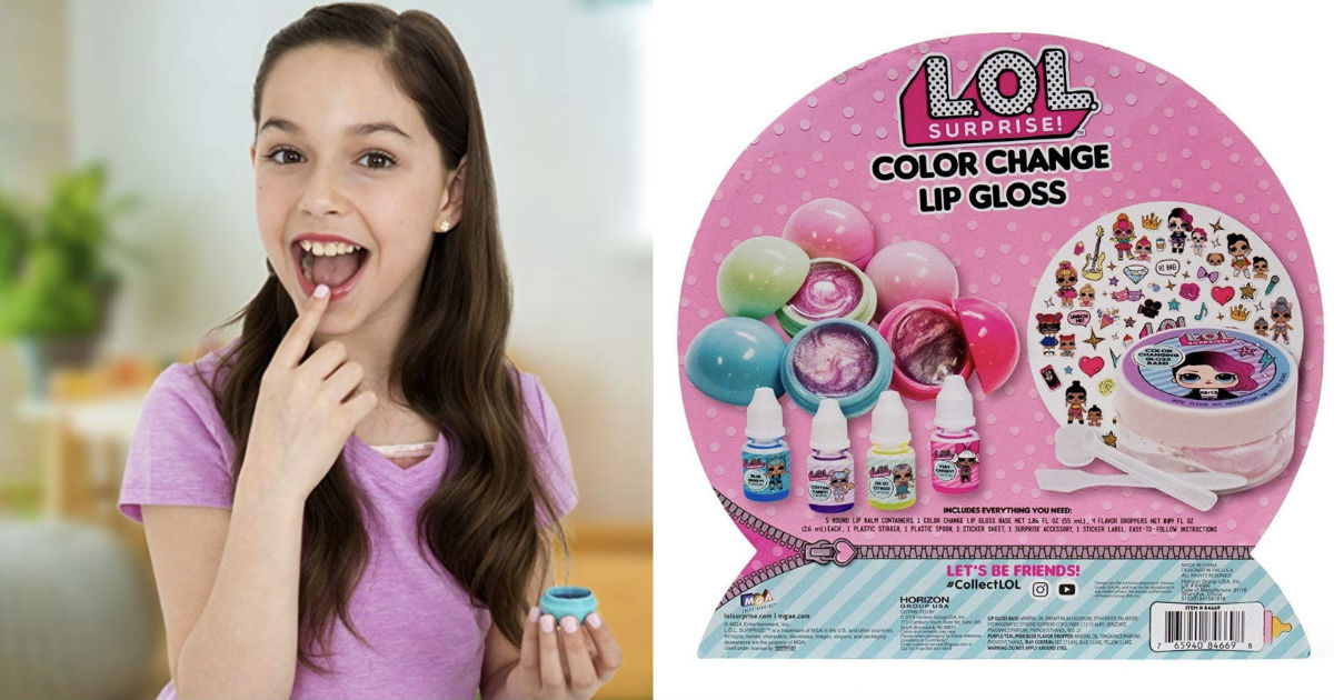 L.O.L. Surprise! Color Change Lip Gloss Set ONLY $13 (Reg $20)