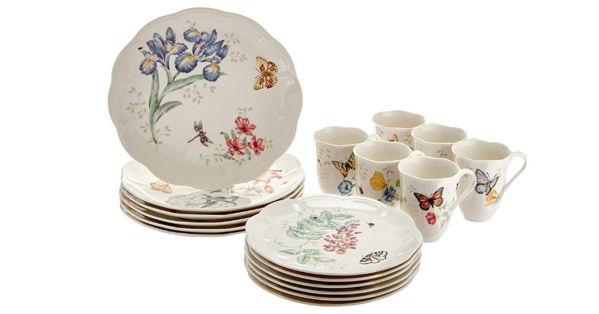 Lenox Butterfly 18-Piece Dinnerware Set ONLY $99.94 (Reg. $390)