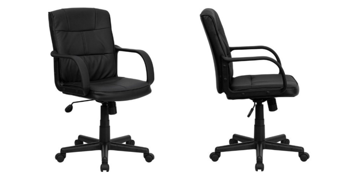 Black Leather Swivel Chair ONLY $45.60 (Reg. $110)