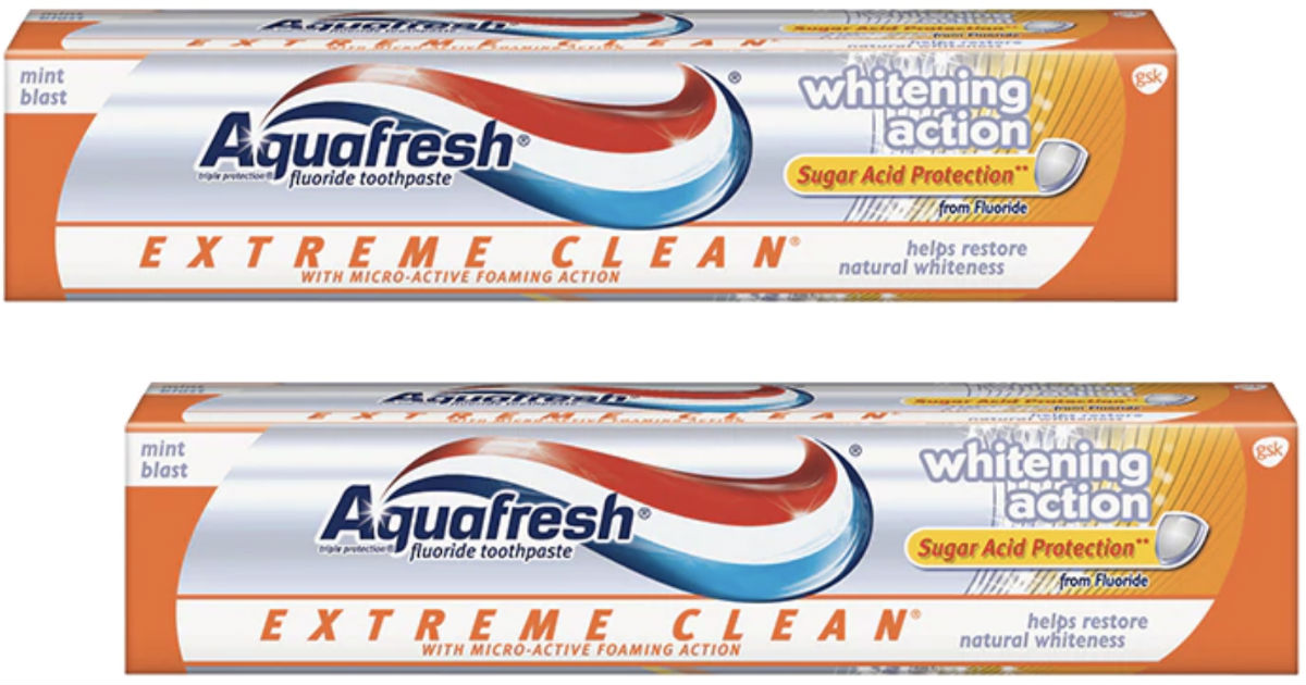 Aquafresh Toothpaste ONLY $0.62 at Walmart