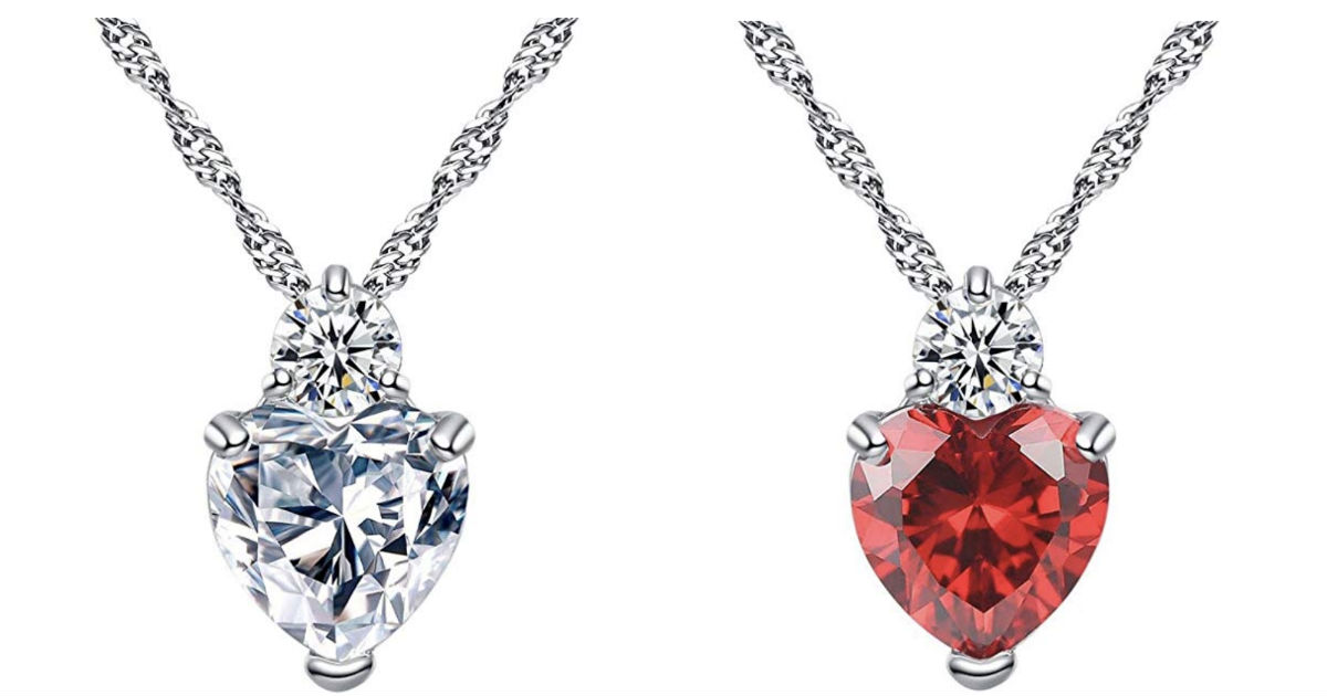 Crystal Heart Necklace ONLY $4 Shipped at Amazon