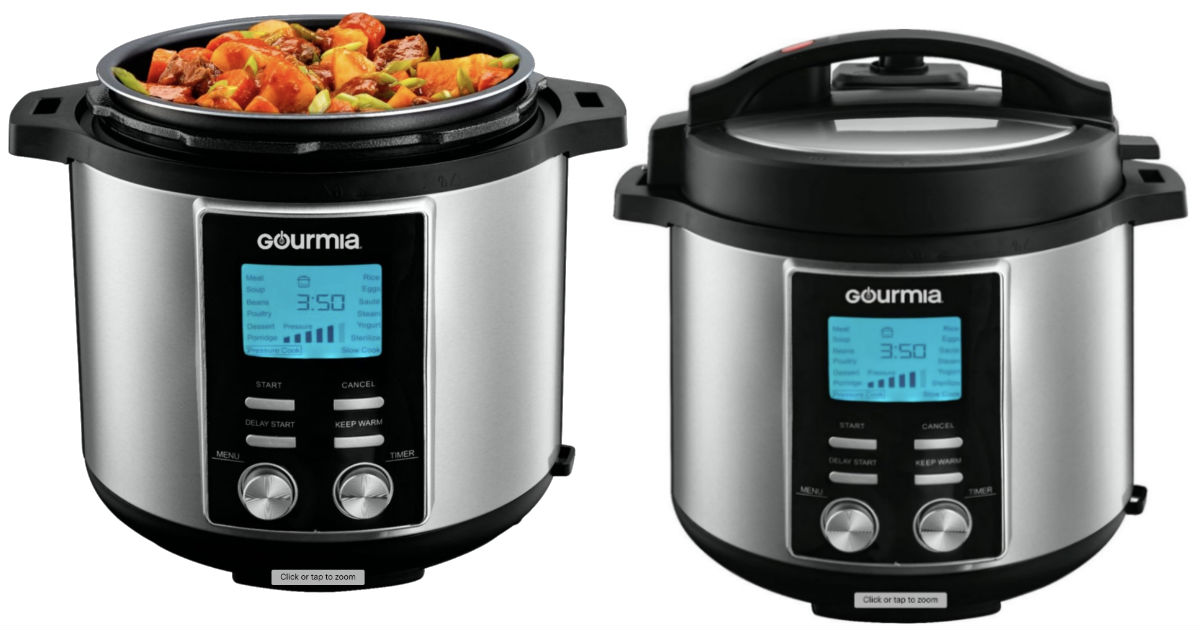 Gourmia 8-Quart Pressure Cooker ONLY $49.99 (Reg $160)