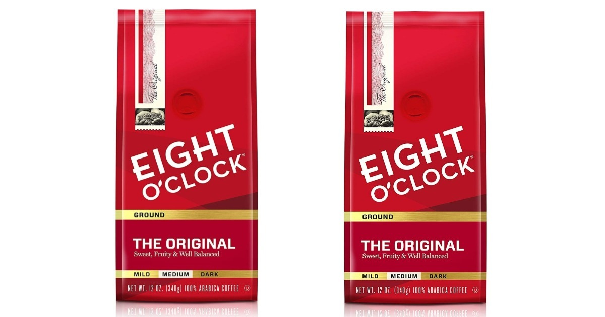 Eight O'Clock Ground Coffee on Amazon