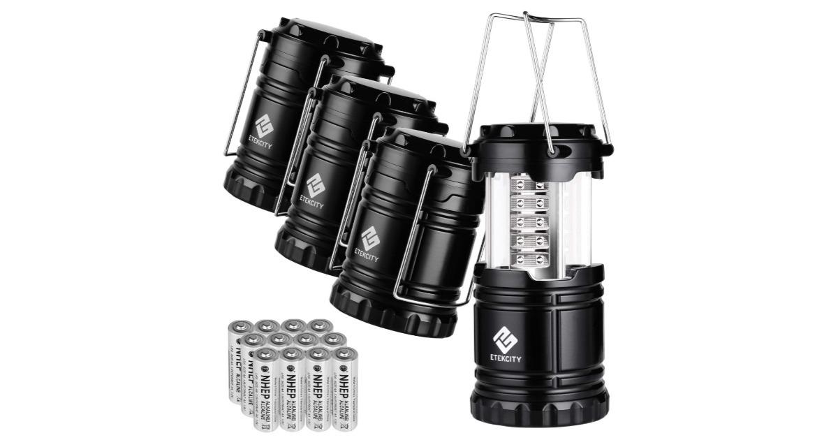 Etekcity 4-Pack LED Camping Lanterns ONLY $ 18.39 (Reg. $30)