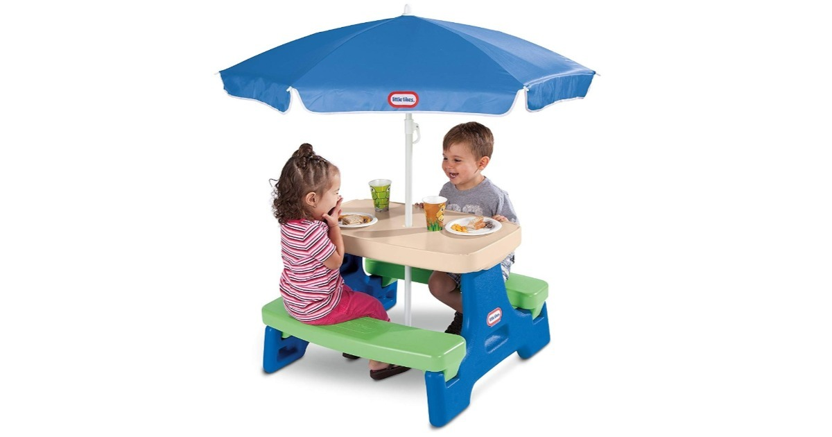 Little Tikes Picnic Table with Umbrella ONLY $41.99 (Reg. $70)
