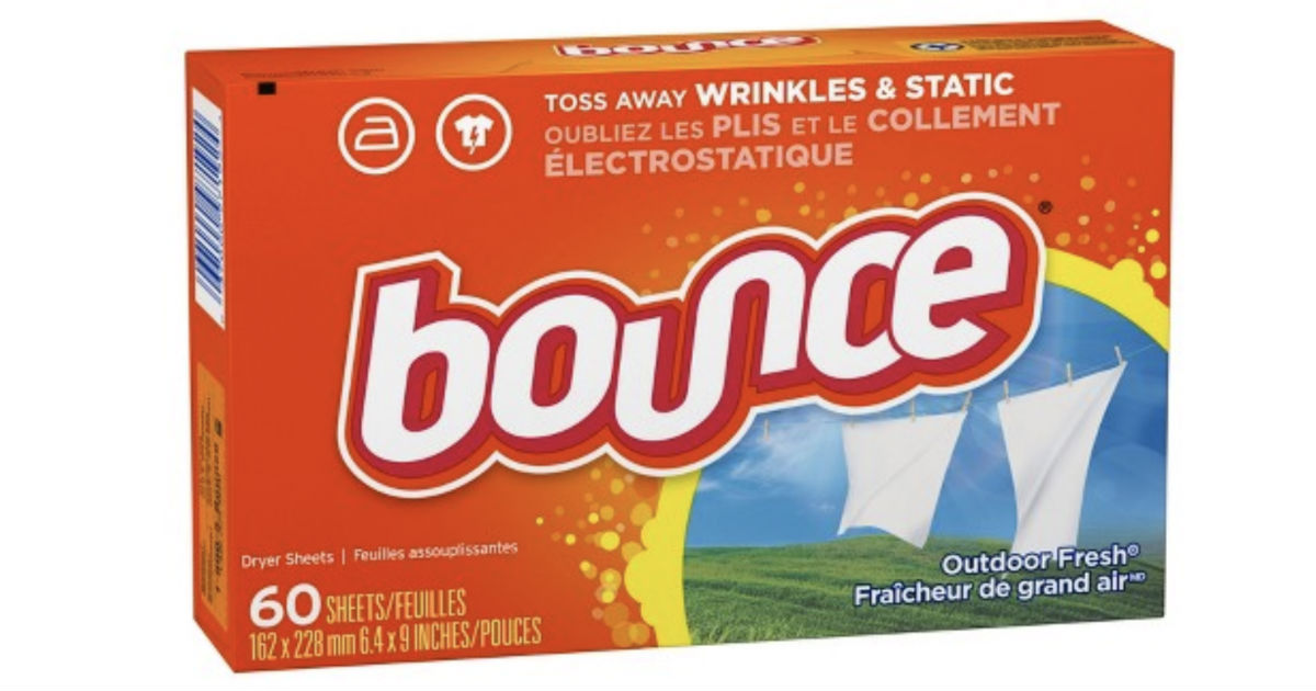 Bounce Dryer Sheets 60-ct ONLY $0.84 at Target