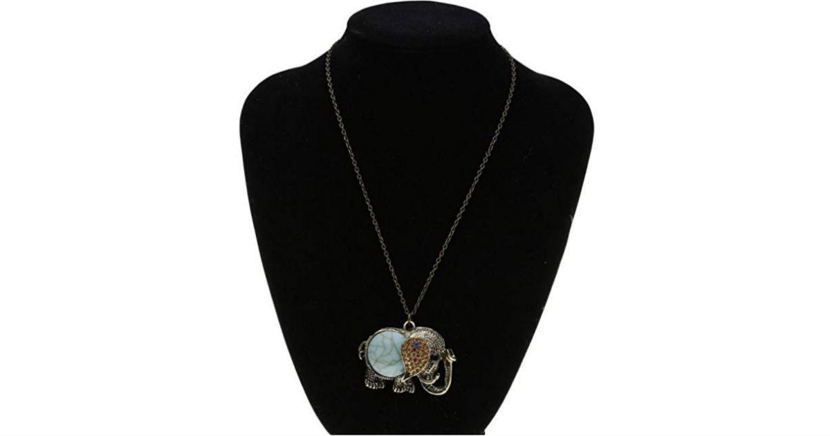 Retro Vintage Elephant Pendant Long Chain ONLY $3.04 Shipped