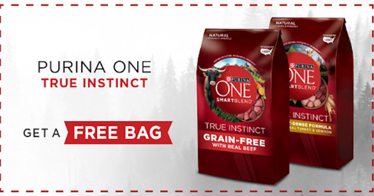 Free Bag of Purina ONE True Instincts Dog or Cat Food - Free