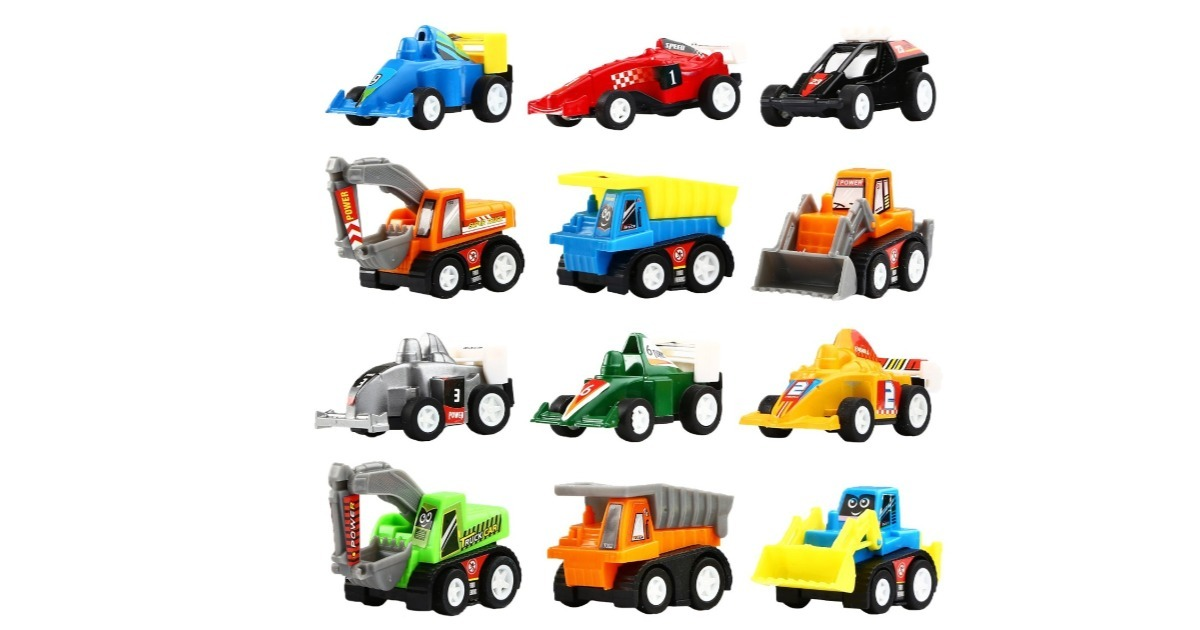 Pull Back Vehicles 12-Pack ONLY $6.98 Shipped (Reg. $19.20)