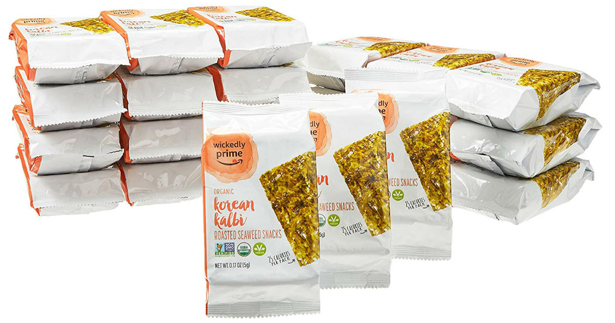Wickedly Prime Organic Roasted Seaweed Snacks 24-Pk ONLY $10.38