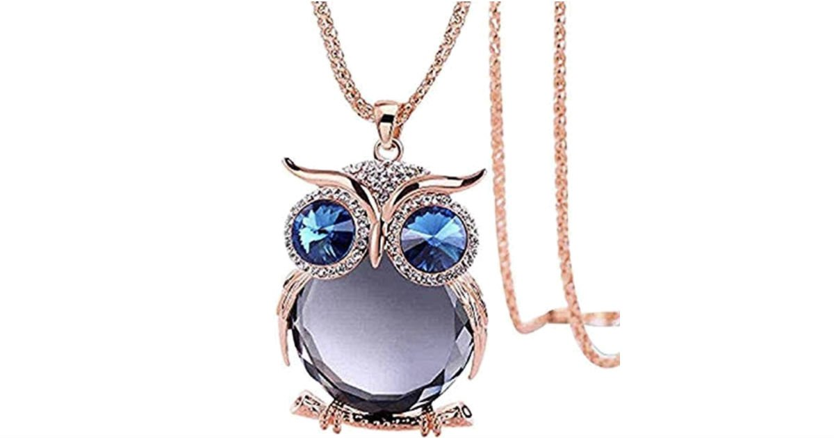 Owl Pendant Necklace ONLY $4.99 Shipped