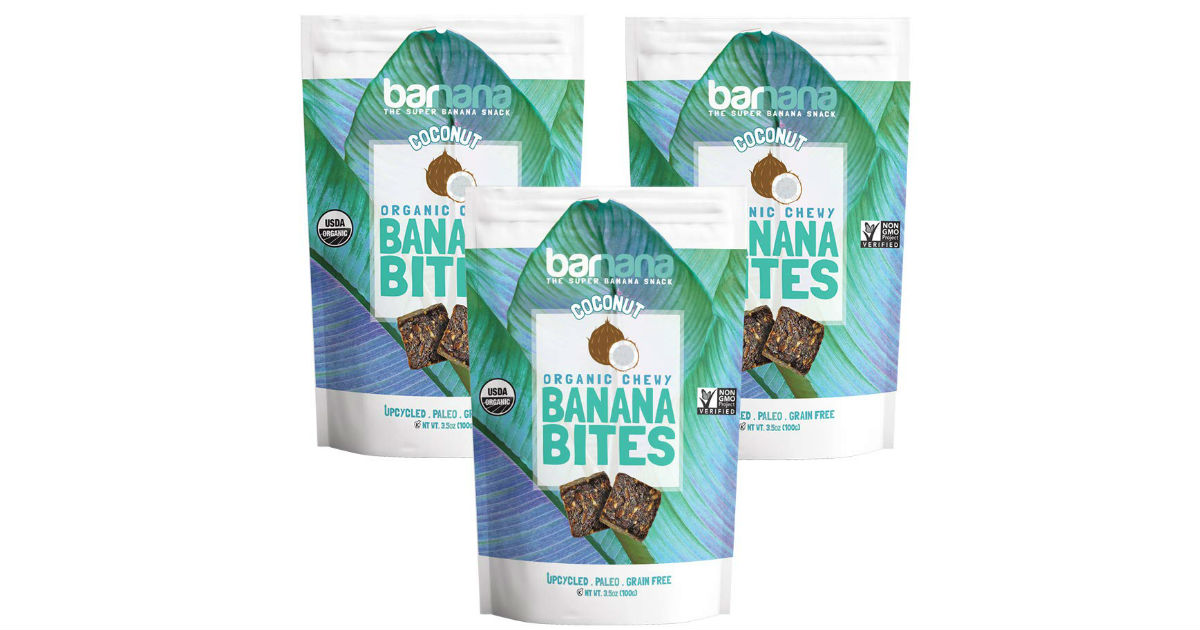 Organic Coconut Chewy Banana Bites 3-Pack Only $7.88 Shipped