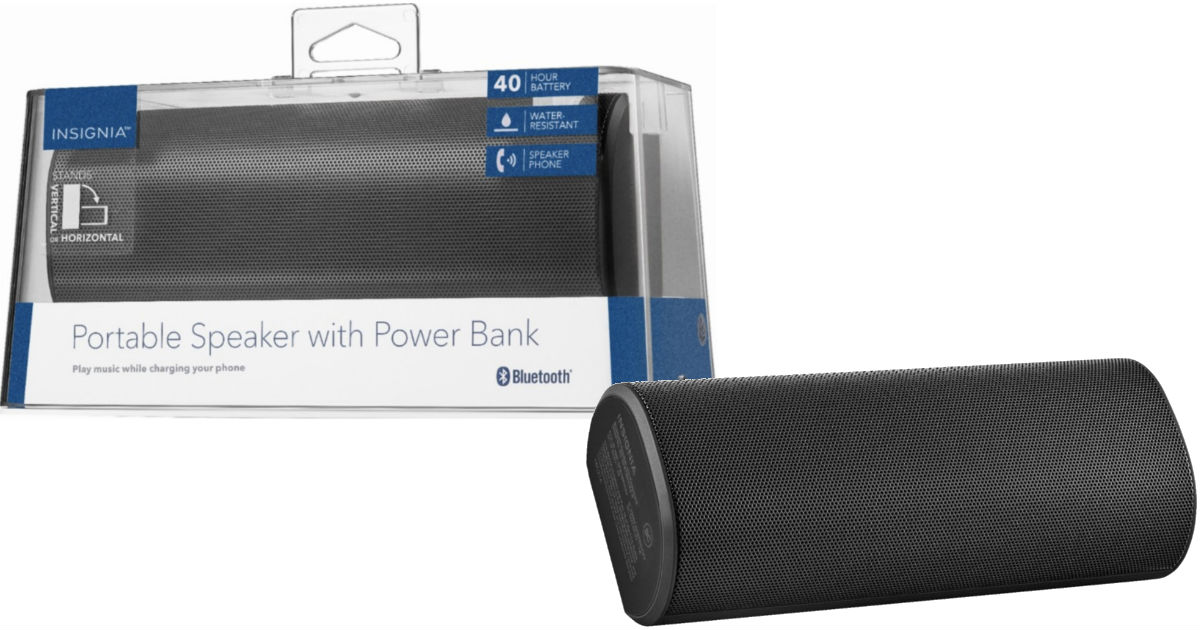 Insignia Portable Bluetooth Speaker ONLY $9.9 (Reg $9) - Daily