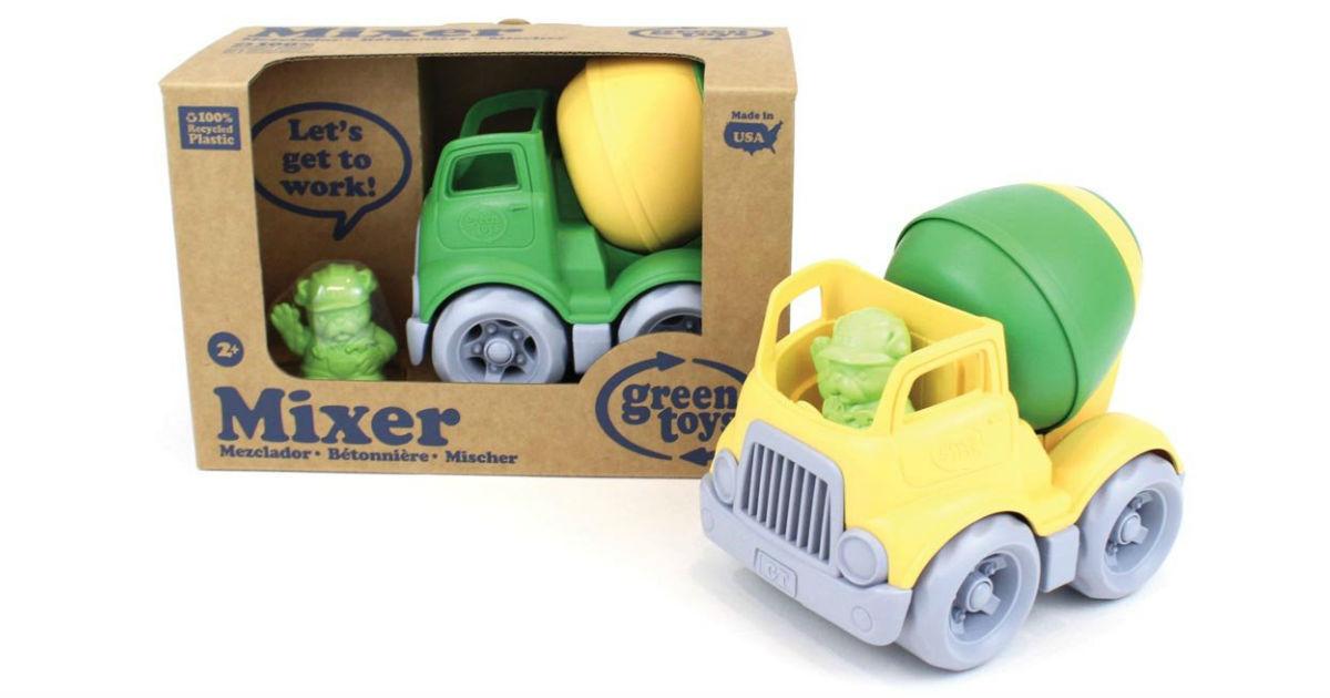 Green Toys Mixer Construction Truck ONLY $8.88 (Reg. $17)