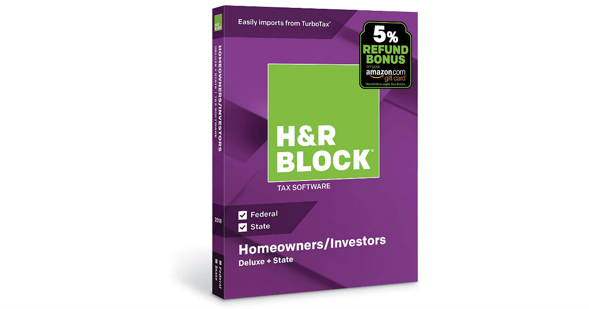 H&R Block Tax Software Deluxe ONLY $25.99 (Reg. $45)