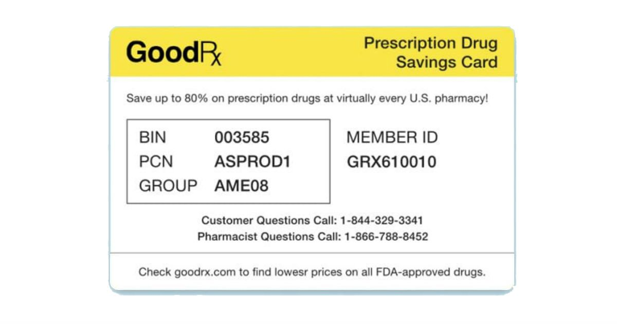FREE GoodRX Discount Card