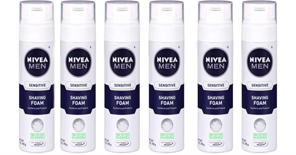 NIVEA Men Shave Foam 6-Pack ONLY $8.95 Shipped