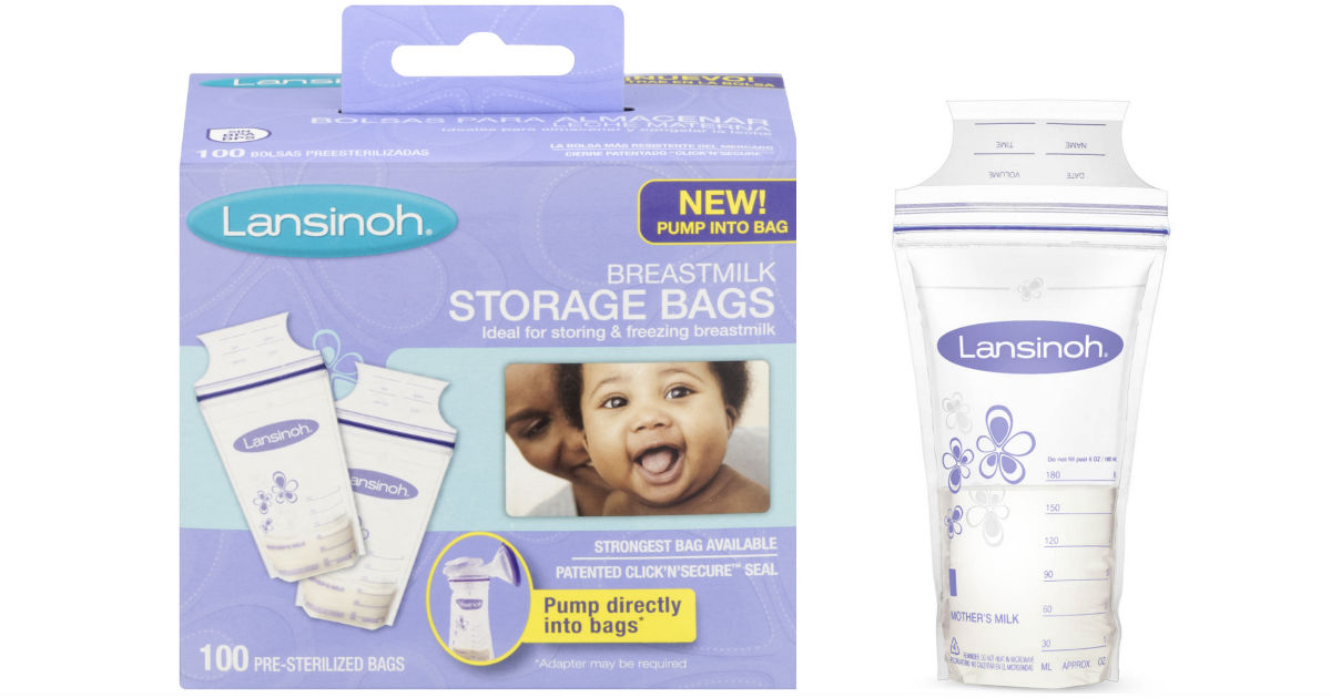 Lansinoh Breastmilk Storage Bags 100-Pk ONLY $8.27 (Reg $13.25)