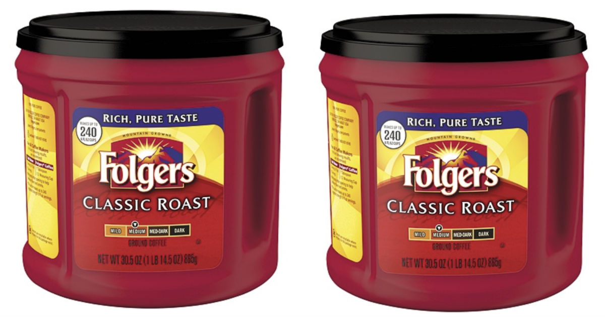 Folgers Classic Roast Coffee 30.5oz Can ONLY $5.39 Shipped