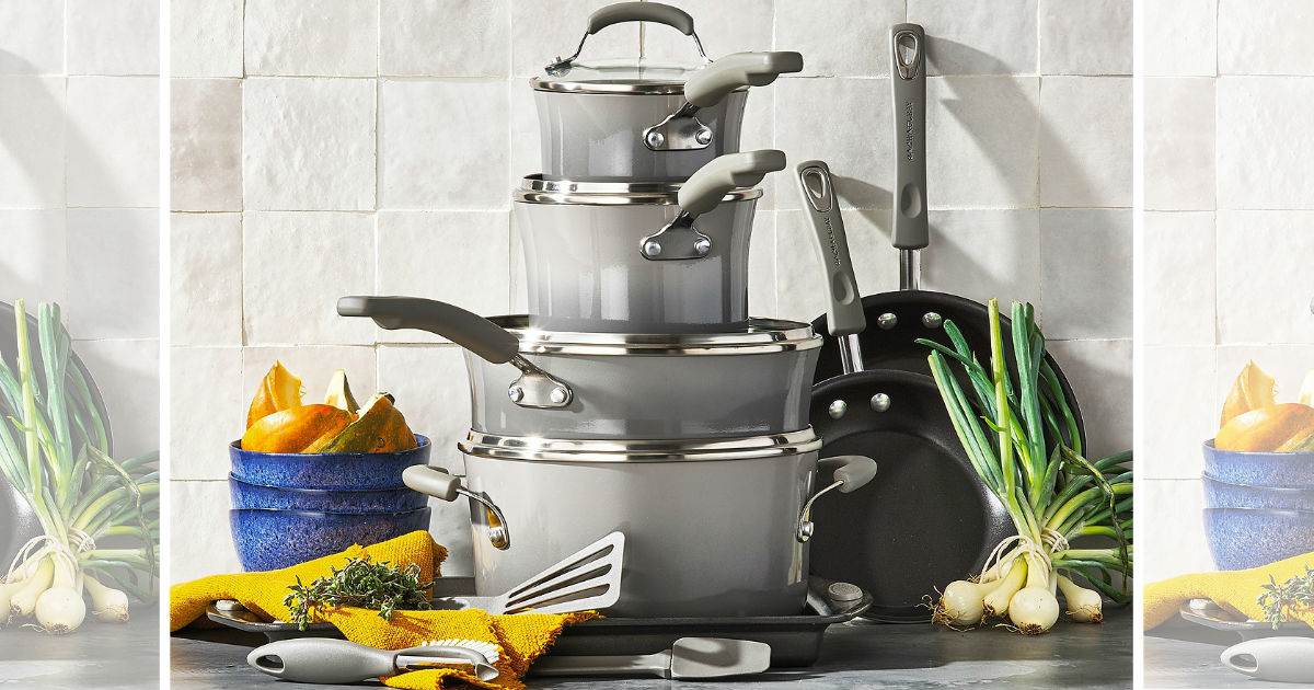 Rachael Ray 14-Pcs Nonstick Cookware Set ONLY $65 (Reg $300)