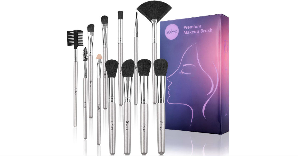 Makeup Brushes Premium 12-Piece Set ONLY $5.99 on Amazon