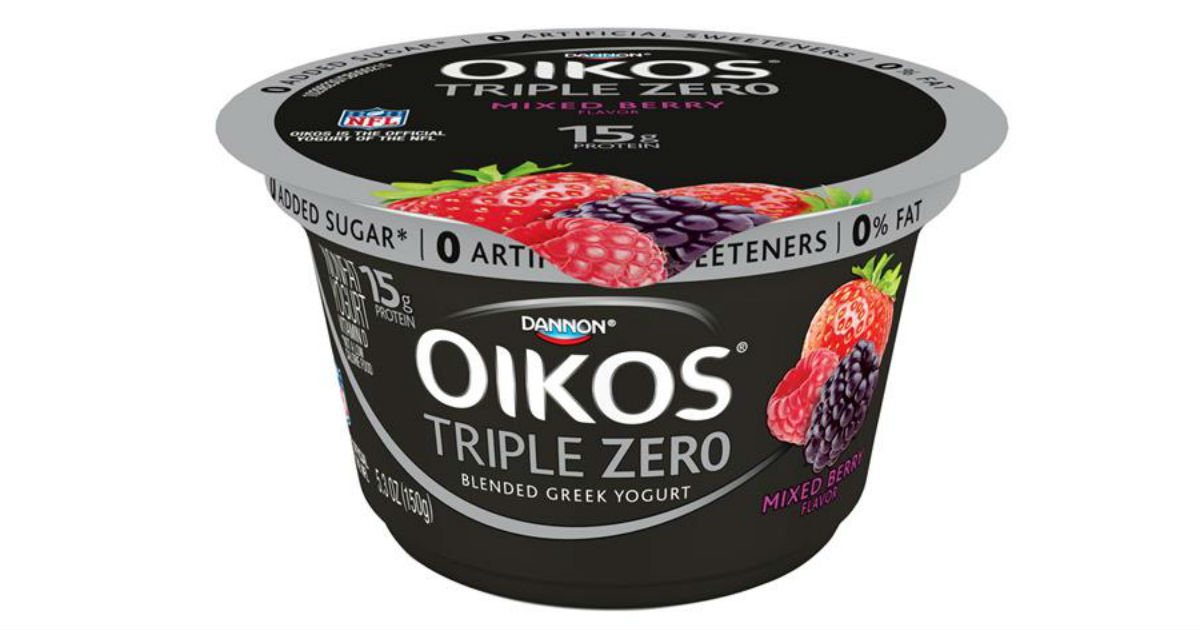 Dannon Oikos Triple Zero Yogurt Only $0.37 at Walmart