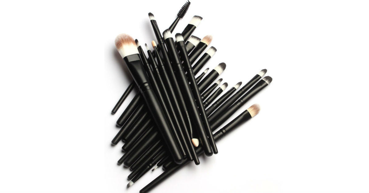 Pro Makeup Brushes Set 20-Pcs ONLY $5.99 on Amazon